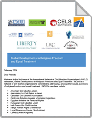 IGlobal Developments in Religious Freedom and Equal Treatment